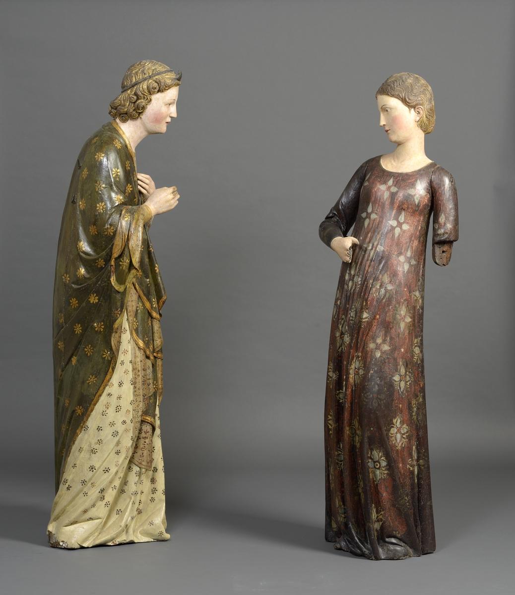 « Ange et Vierge de l'Annonciation », Sienne, milieu du XIVe siècle © Musée des Beaux-Arts